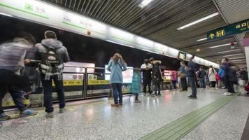 U-Bahn der Stadt Shanghai, 4 km Zeitraffer video