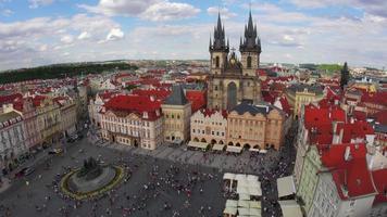 praça da cidade velha de praga república checa video