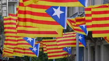 Freedom for Catalonia Independence Flagstaff video