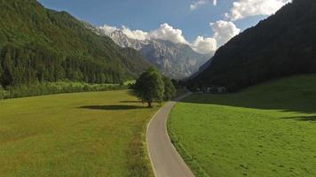 Camera flying over Logarska Valley, Slovenia video
