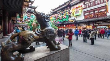 Shanghai Stadtbild, yu Garten 4k Zeitraffer video