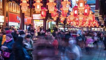 Shanghai Stadtbild, yu Garten 4k Zeitraffer