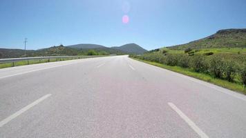 gopro-verkeer op de weg, de straten van Turkije