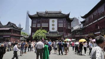 Time lapse at Yuyuan Garden, Shanghai in sunny day video