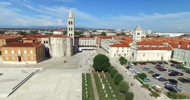 panorama della città vecchia di zara video