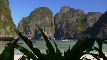thailandia giorno tempo famoso koh phi phi don island beach panorama 4K