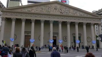 Front of Buenos Aires Cathedral in May square during Bicentennial independence day celebrations video