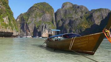 Thailandia famoso koh phi phi isole spiaggia baot panorama 4K