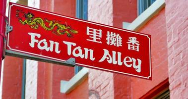 4k victoria bc fan tan alley chinatown sign video