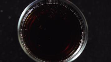 Soda im Glas.