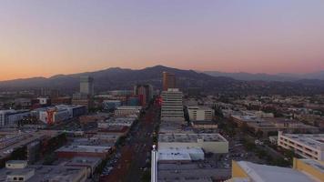 Vista aérea del atardecer de Glendale video