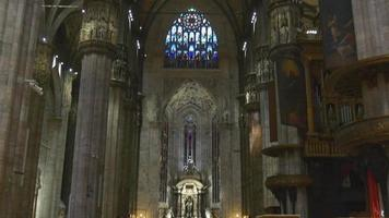 Italia giorno luce famosa milano duomo cattedrale panorama 4K