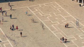 itália dia de verão famosa cidade de veneza san marco square campanile view point panorama4k time lapse video
