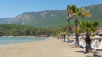 akyaka, turchia, spiaggia, lettino solare, meta di viaggio estivo della vita quotidiana
