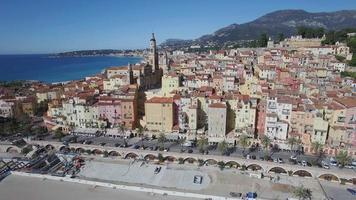 Village of Menton on the French Riviera, France