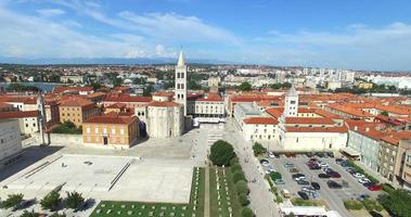 Aerial view of old town of Zadar