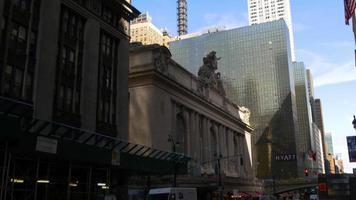 luce del giorno new york grand central chrysler building 4k usa video