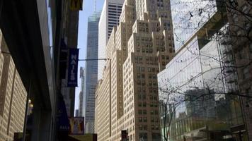 Estados Unidos ciudad de nueva york manhattan edificios famosos hasta la vista superior 4k video