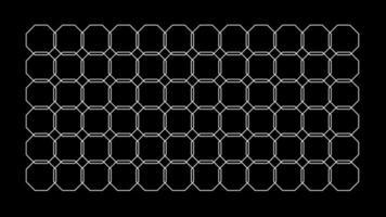 modello senza cuciture ottagono caleidoscopio modello loop grafica sfondo pattern video