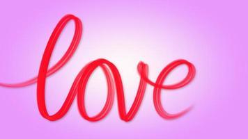 palabra amor escrita en rojo sobre rosa video