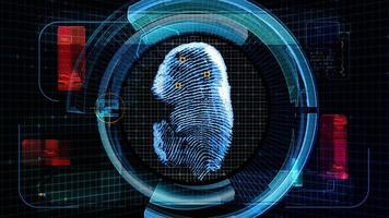 Sicherheit der Fingerabdruck-Scan-Technologie (4k-Animation)