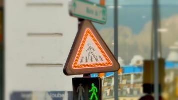 Lights on Warning Do Not Cross Pedestrian Traffic Sign video