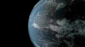 planeta tierra girando en el espacio. video