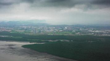 vista aérea da cidade, costa rica video