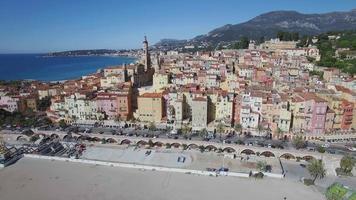 Pueblo de Menton en la Riviera francesa, Francia video