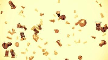 viti metalliche flusso animazione 3d video