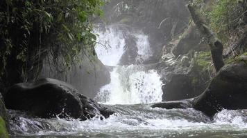 pequena cachoeira em rio ou riacho