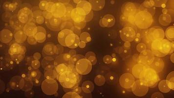 4k Golden Luxury Bokeh Animation Background Seamless Loop. video