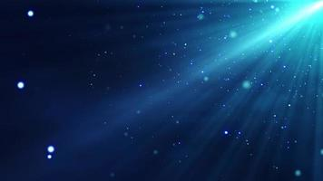4k Blue Particles Light Stream Animation Background Seamless Loop. video