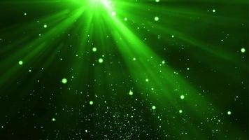 4k Green Particles Light Stream Animation Background Seamless Loop. video