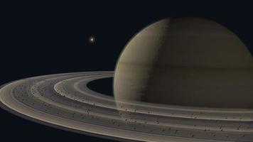 umkreisender Planet Saturn. video