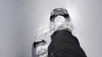 zapatos de nieve invierno en ontario 4k video