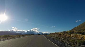 lapso de tempo da estrada da montanha 4k video