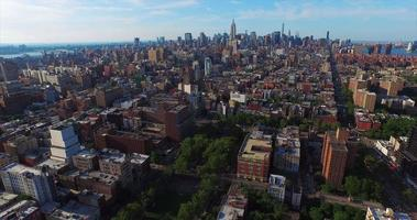 NYC Aerial Shot Flying From Downtown To Midtown video
