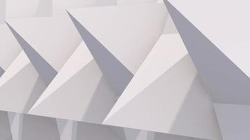3D gerenderte Pyramiden rotieren video