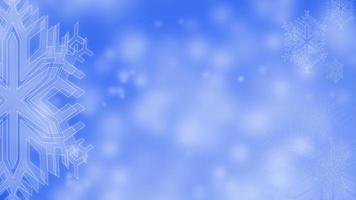 ícone ou símbolo de neve animado com neve caindo sobre fundo azul video