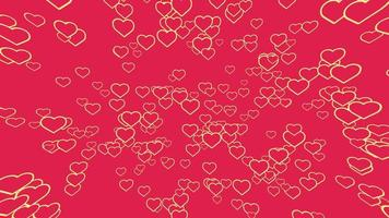 Heart Animation Seamless loop Pattern