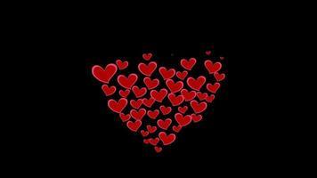 Forma de corazón abstracto del videoclip de corazones pequeños video
