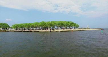 NYC Meeresspiegel dann Luftaufnahme der Insel