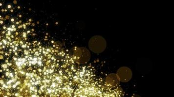 Partikel Gold Glitter Bokeh Award Staub abstrakte Hintergrundschleife video