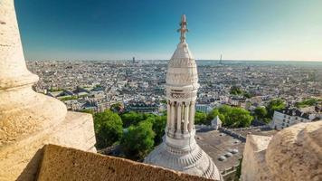 france summer day basilica of sacre observation deck paris panorama 4k time lapse