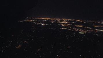 Washington vista aerea durante la notte video