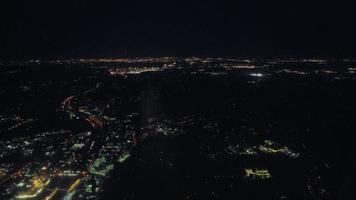 vista aérea de washington durante la noche video