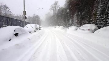 massiccia tempesta di neve 4K