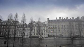 Parijs uitzicht tijdens de winter