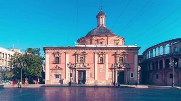 Spagna valencia sole luce cattedrale piazza 4k lasso di tempo video